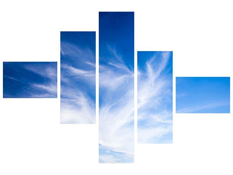 Hartschaumbild 5-teilig modern Schleierwolken