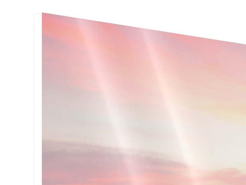 Hartschaumbild 5-teilig modern Der beruhigende Sonnenuntergang