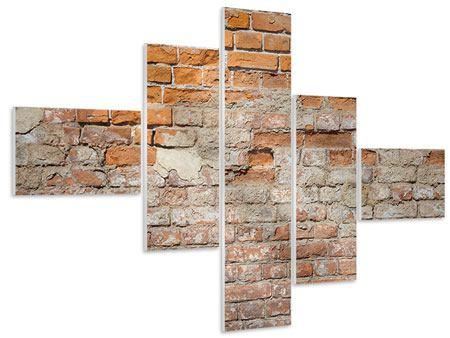 Hartschaumbild 5-teilig modern Alte Klagemauer