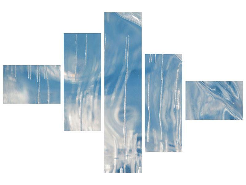 Hartschaumbild 5-teilig modern Das Eis des Baikalsees