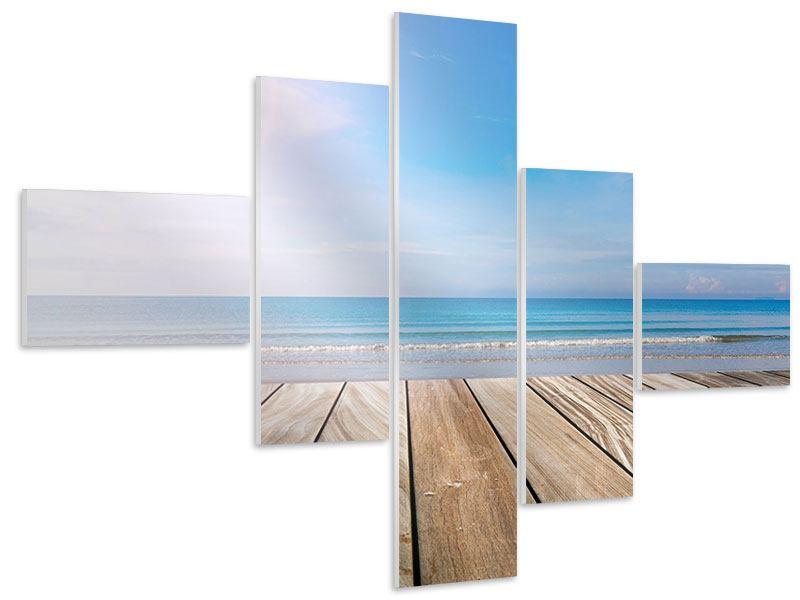 Hartschaumbild 5-teilig modern Das schöne Strandhaus