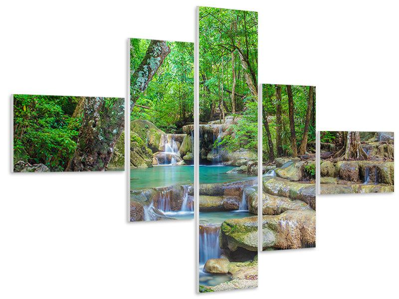 Hartschaumbild 5-teilig modern Wasserspektakel