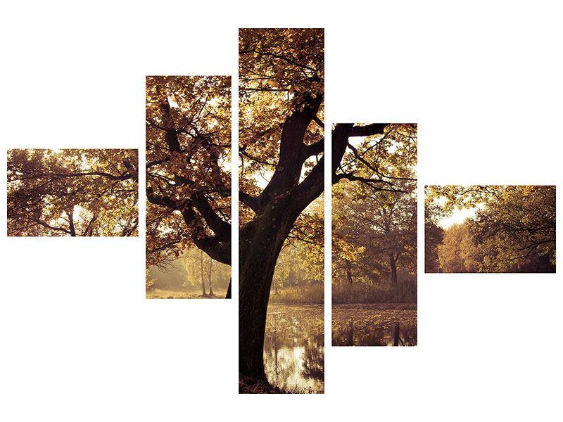 Hartschaumbild 5-teilig modern Landschaftspark