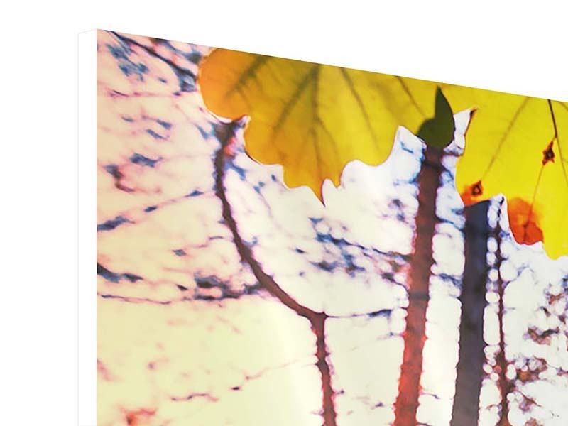 Hartschaumbild 5-teilig modern Herbst