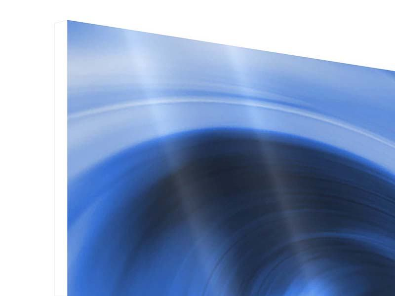 Hartschaumbild 5-teilig modern Abstrakte blaue Welle