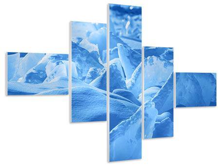 Hartschaumbild 5-teilig modern Eis des Baikalsees