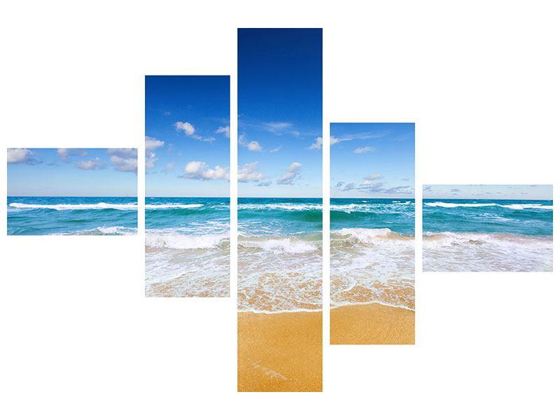 Hartschaumbild 5-teilig modern Die Gezeiten und das Meer