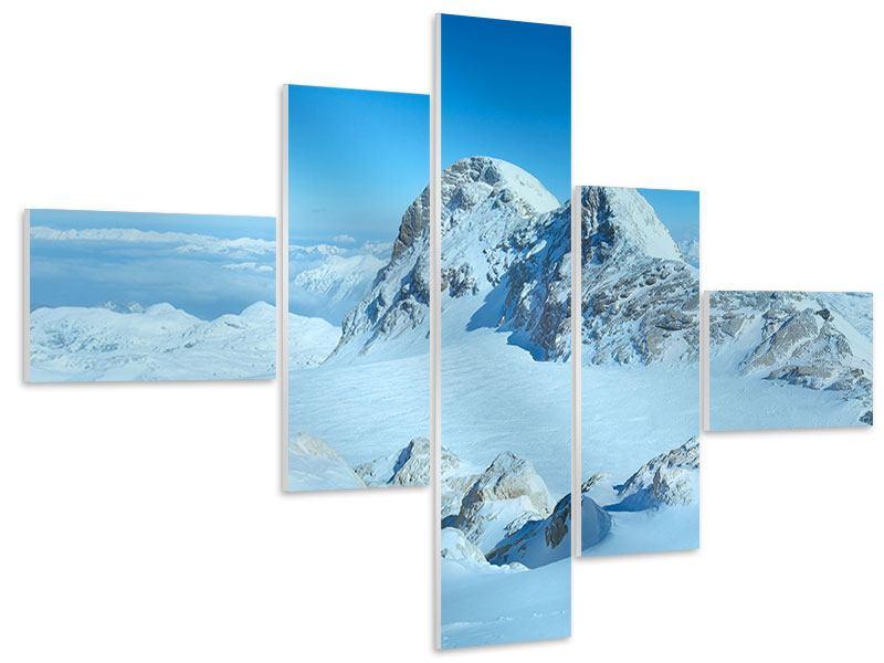 Hartschaumbild 5-teilig modern Über den Wolken