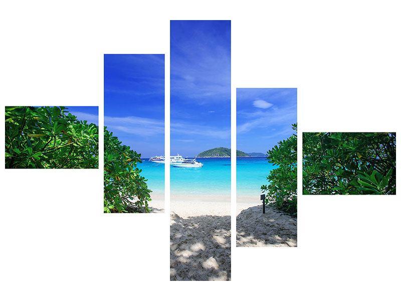 Hartschaumbild 5-teilig modern Similan-Inseln