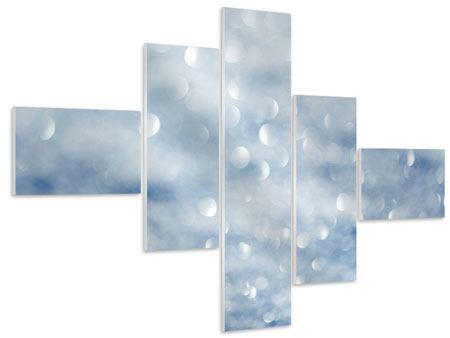 Hartschaumbild 5-teilig modern Kristallglanz