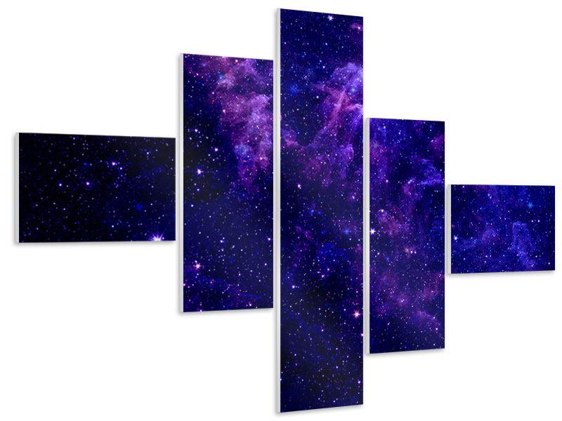 Hartschaumbild 5-teilig modern Ein Himmel voll Sterne