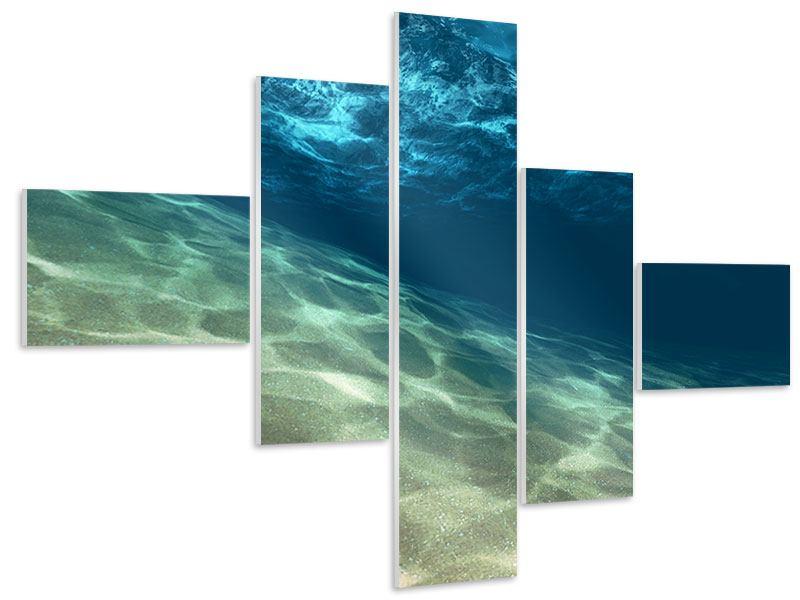 Hartschaumbild 5-teilig modern Unter dem Wasser