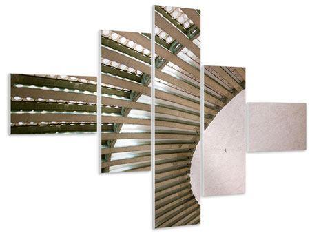 Hartschaumbild 5-teilig modern Abstraktes Rad