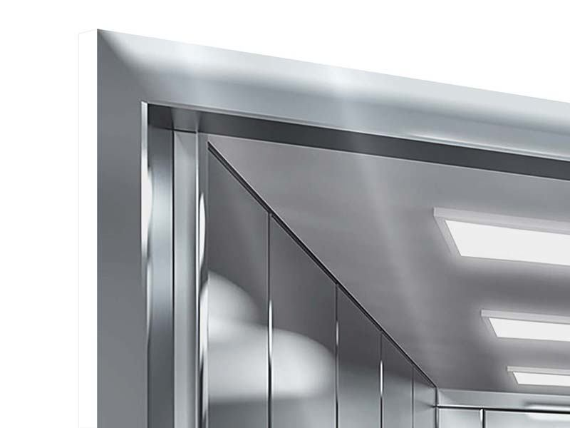 Hartschaumbild 9-teilig Aufzug