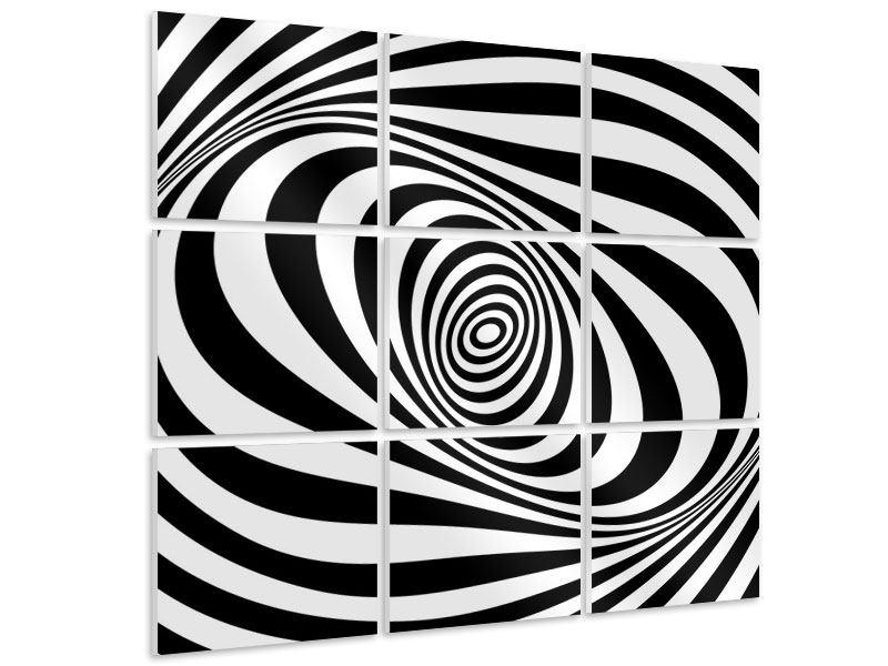 Hartschaumbild 9-teilig Abstrakte Wandbewegung