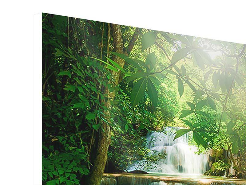 Hartschaumbild 9-teilig Wasserfall Thailand
