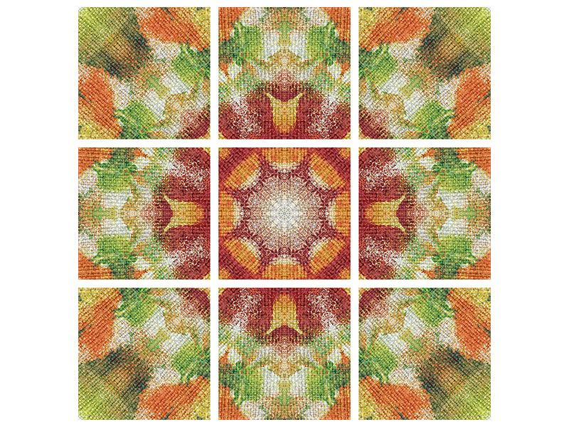 Hartschaumbild 9-teilig Musterung