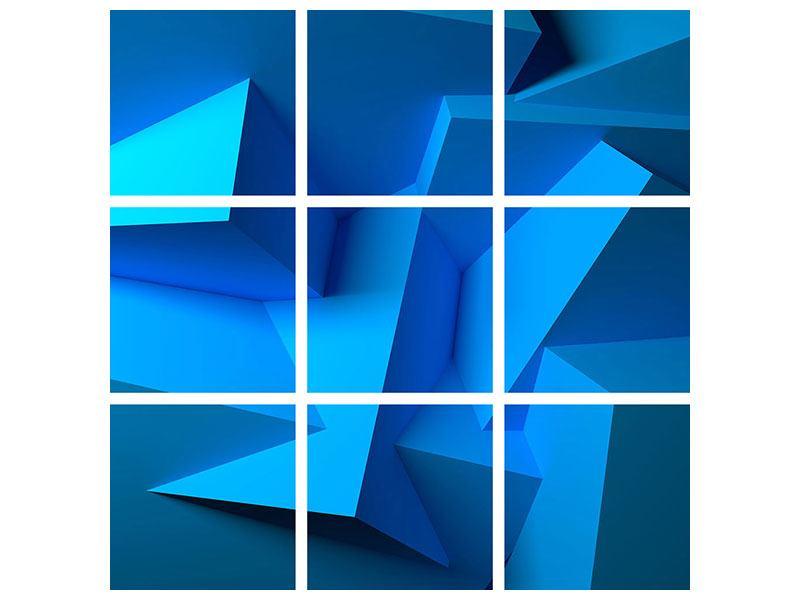 Hartschaumbild 9-teilig 3D-Abstraktion