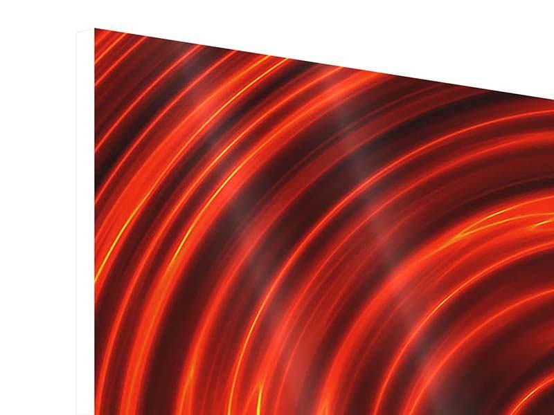 Hartschaumbild 9-teilig Abstrakte Rote Wirbel