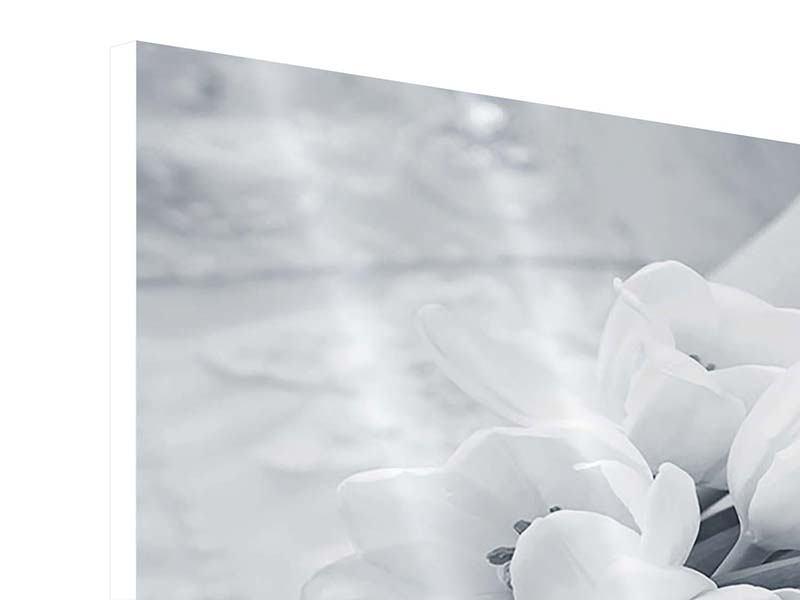 Hartschaumbild 9-teilig Romantisches Tulpenbukett