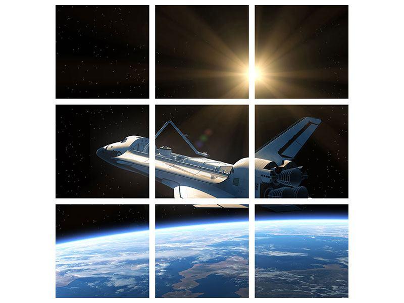 Hartschaumbild 9-teilig Das Raumschiff