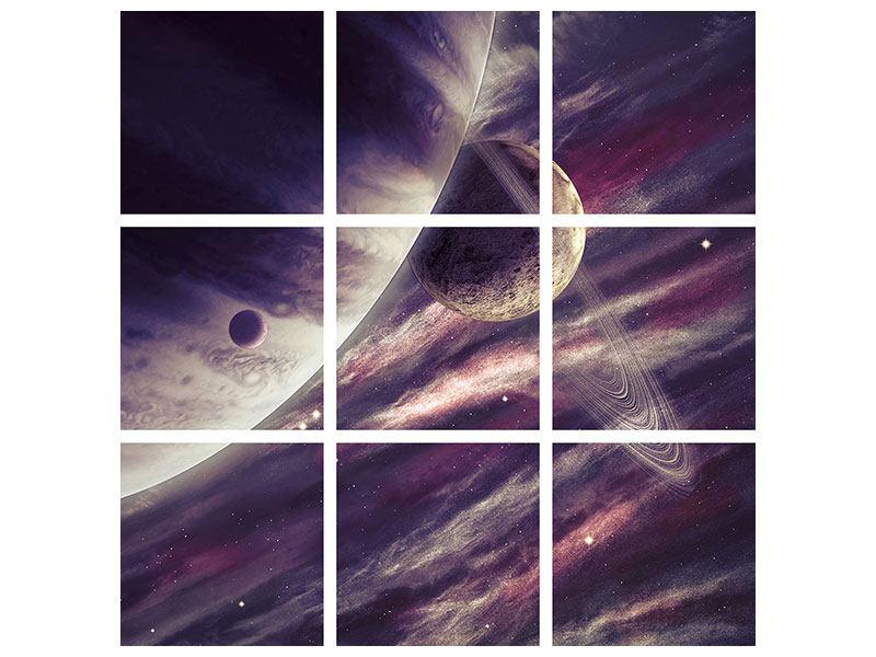 Hartschaumbild 9-teilig Weltraumreise
