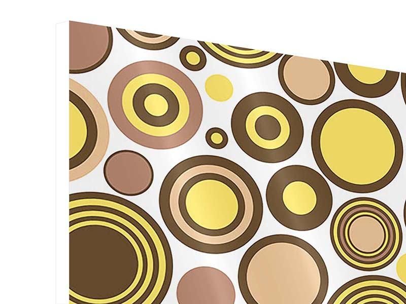 Hartschaumbild 9-teilig Kreise im Retrodesign