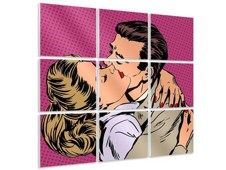 Hartschaumbild 9-teilig Pop Art Sehnsucht