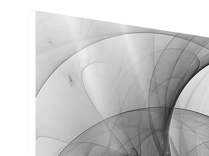 Hartschaumbild 9-teilig Abstrakte Kreisende Kreise