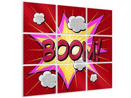 Hartschaumbild 9-teilig Pop Art Boom