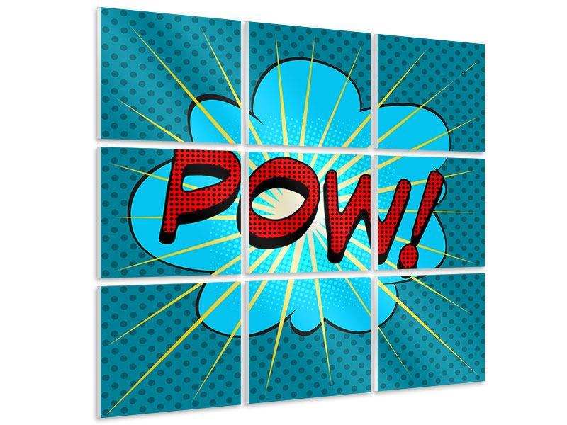 Hartschaumbild 9-teilig Pop Art Pow