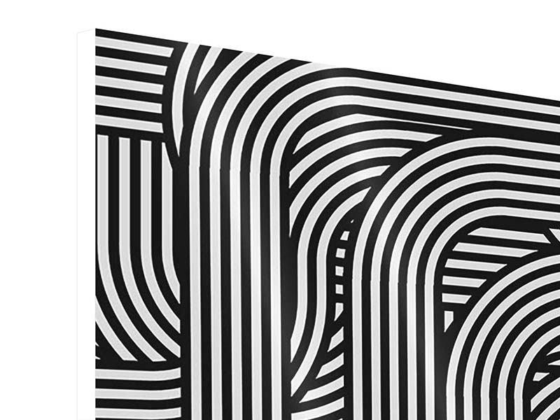 Hartschaumbild 9-teilig 3D Black & White