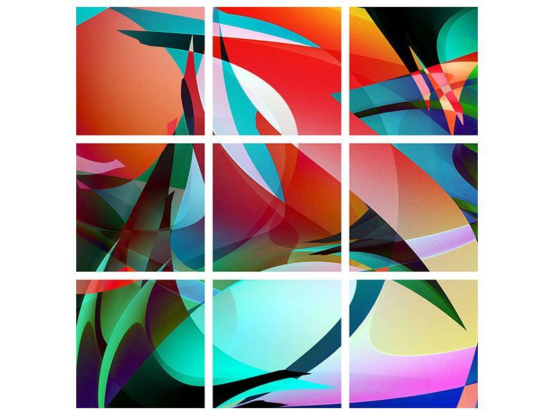 Hartschaumbild 9-teilig Paint