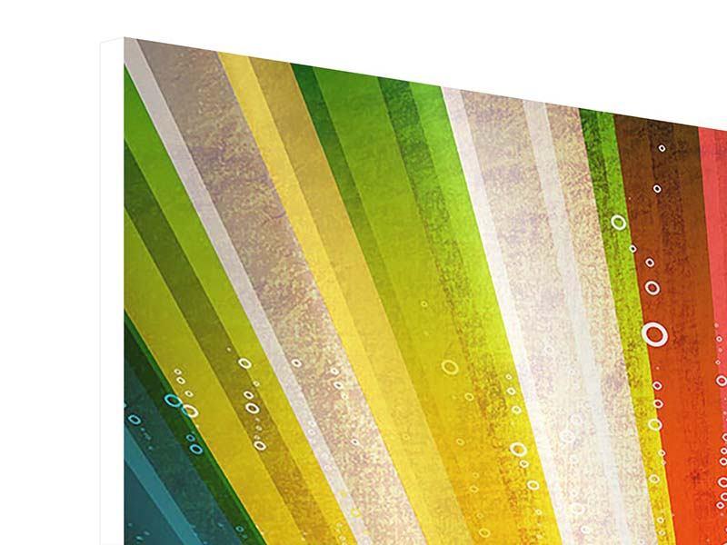 Hartschaumbild 9-teilig Abstrakte Farbstrahlen