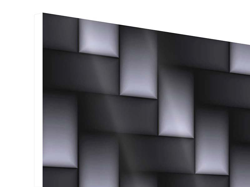 Hartschaumbild 9-teilig 3D-Treppen