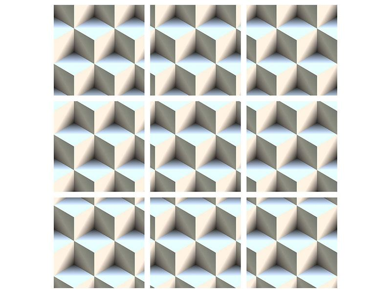 Hartschaumbild 9-teilig 3D-Polytop