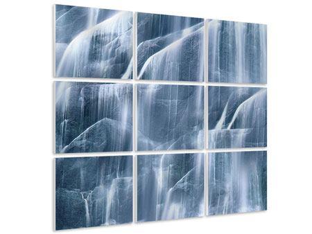 Hartschaumbild 9-teilig Waterfall