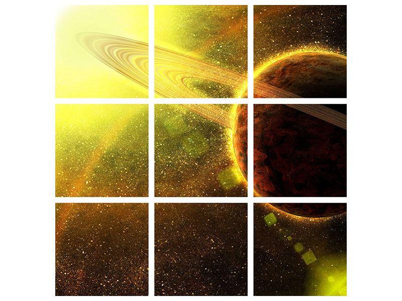 Hartschaumbild 9-teilig Sterne