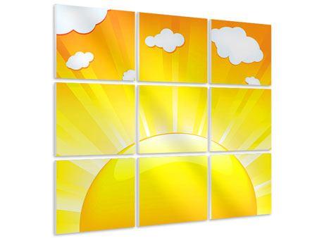 Hartschaumbild 9-teilig Die Sonne geht auf