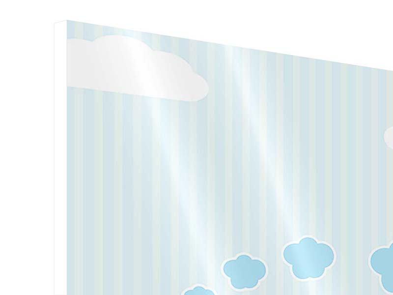 Hartschaumbild 9-teilig Der Regenbogenzug