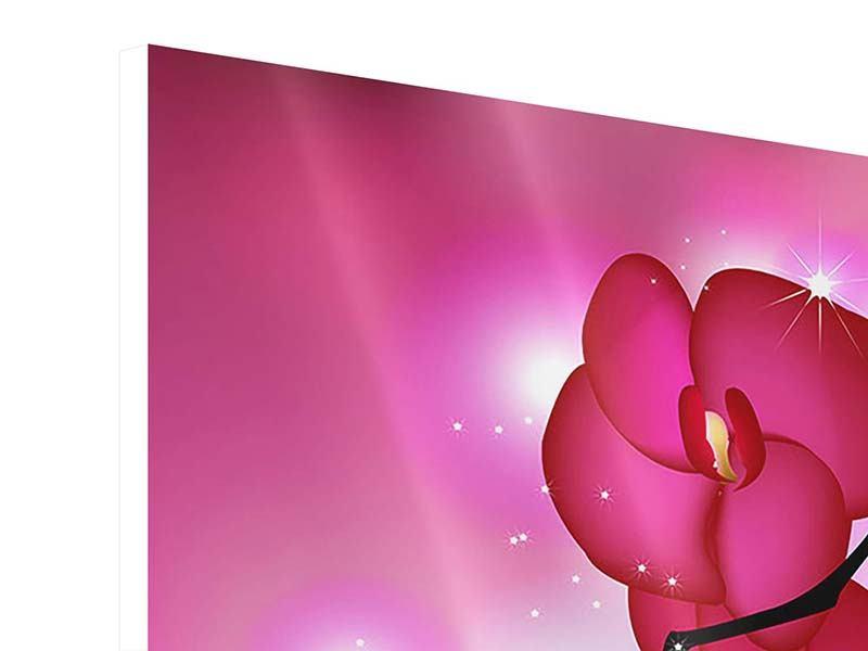 Hartschaumbild 9-teilig Orchideenmärchen