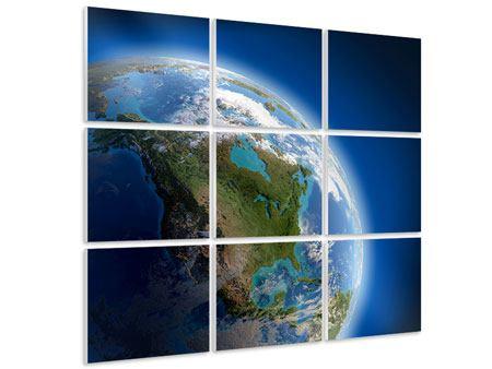 Hartschaumbild 9-teilig Die Erde