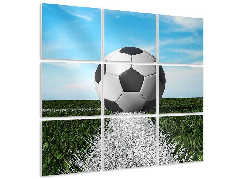 Hartschaumbild 9-teilig Der Fussball