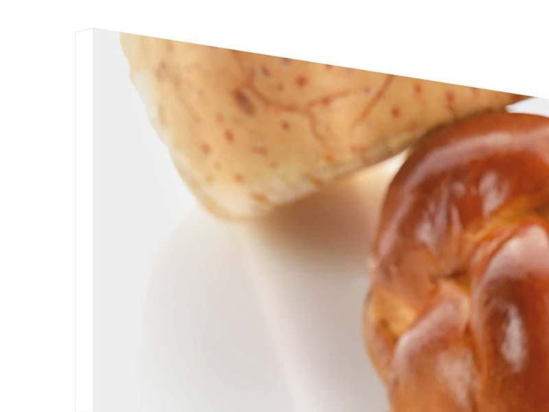 Hartschaumbild 9-teilig Frühstücksbrötchen