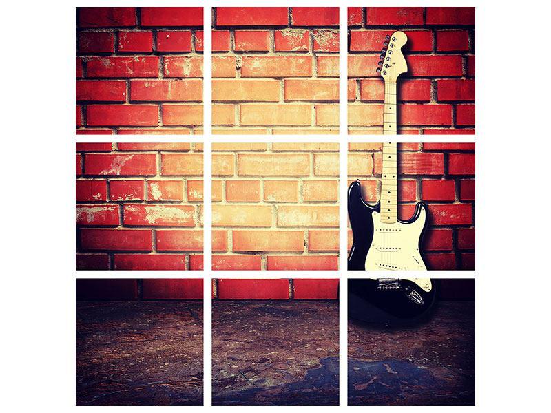 Hartschaumbild 9-teilig E-Gitarre