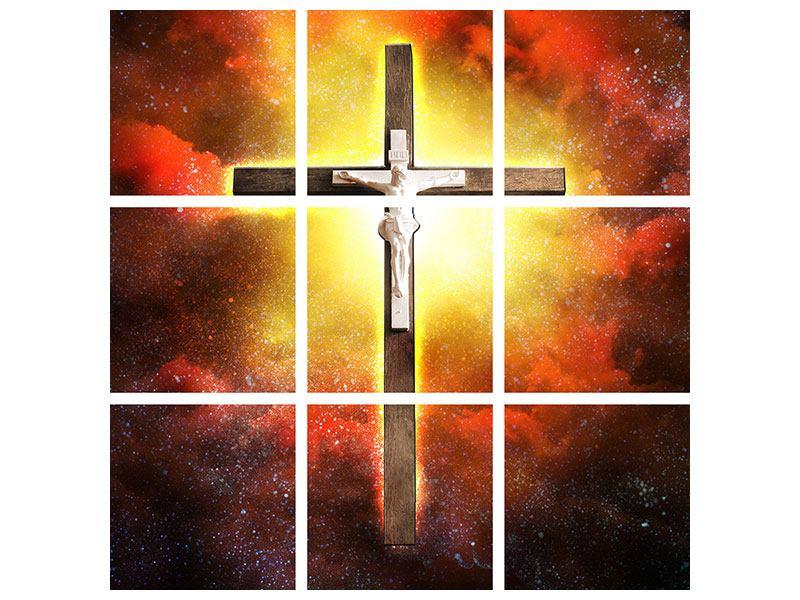 Hartschaumbild 9-teilig Heiliges Kreuz
