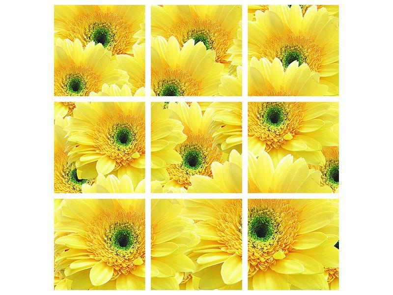 Hartschaumbild 9-teilig Flower Power Blumen