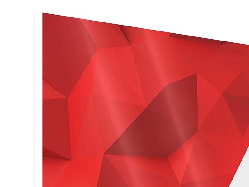 Hartschaumbild 9-teilig 3D-Stern
