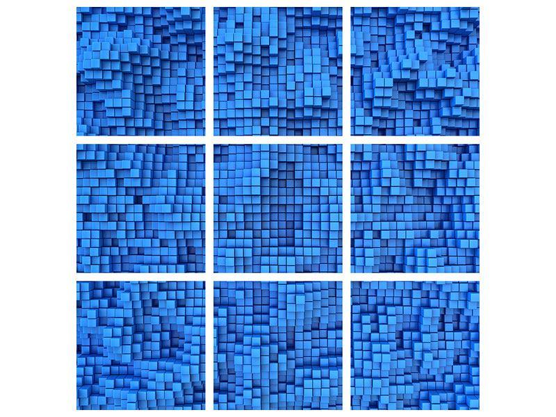 Hartschaumbild 9-teilig 3D-Mosaik