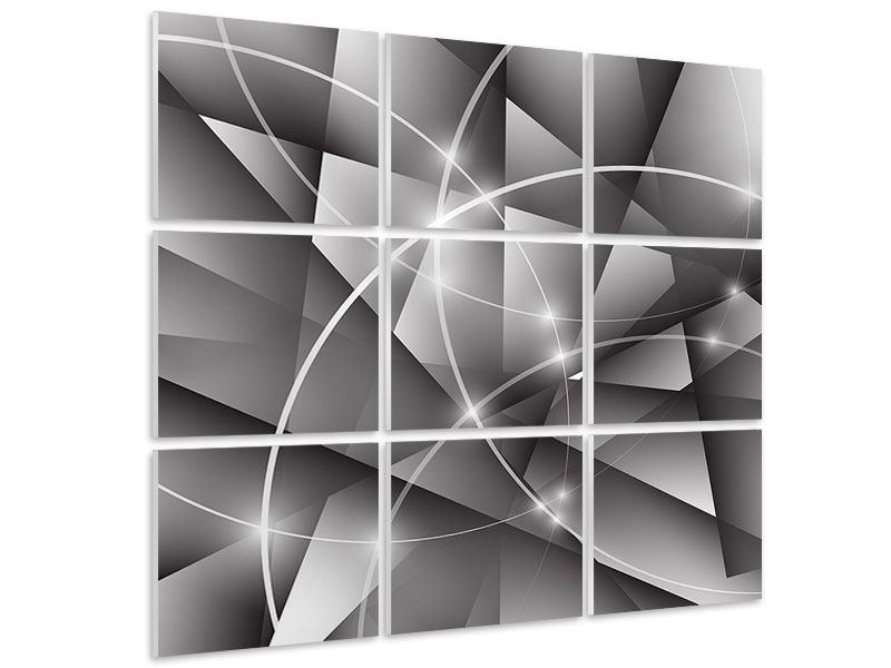 Hartschaumbild 9-teilig Geometrie